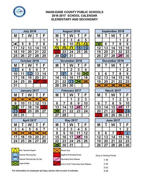 county schools calendar 2017 miami dade school calendar calendar 2017