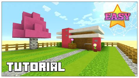 cute minecraft house minecraft how to build a small survival house tutorial pink house cute house