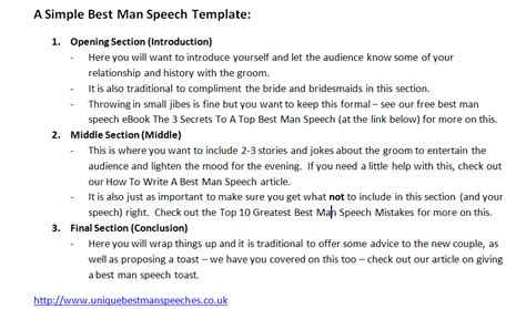 Best Man Speech Template Unique Best Man Speeches Latest Articles Best Speech Template