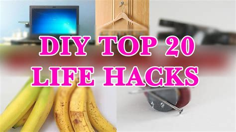 diy hacks youtube diy crafts top 20 most genius life hacks youtube