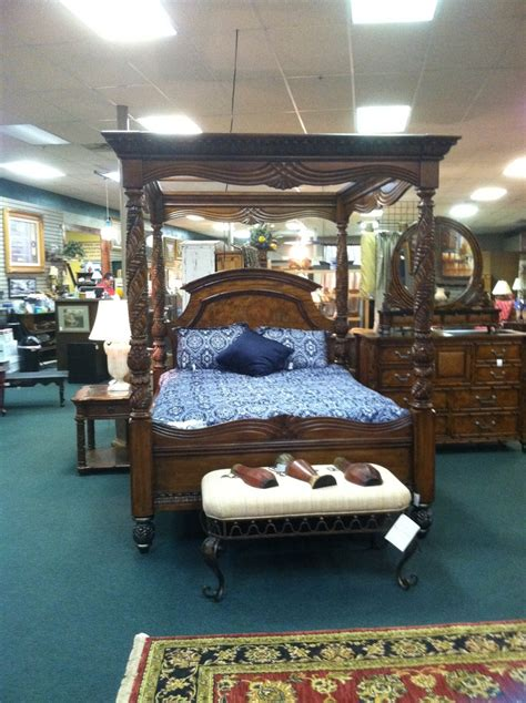 american signature canopy bed consign to design pinterest