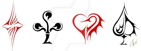 playing cards symbols by shadesofdreams on deviantart