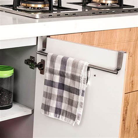 kitchen cabinet towel holder our cherish over door towel rack bar hanging holder