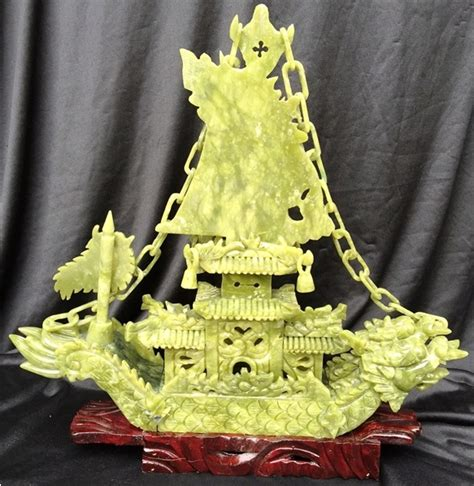 jade dragon boat carving jade dragon boat carving handmade in china for sale bj38c