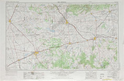 big springs texas map big topographic maps tx usgs topo 32100a1 at 1 250 000 scale