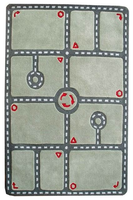 car track rug car track green rug contemporary children s rugs by