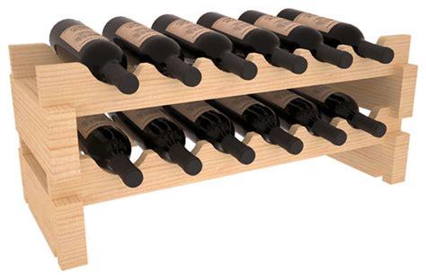 12 bottle mini scalloped wine rack in pine