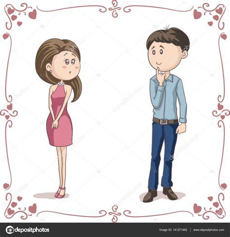 imagenes de japonesas en caricatura amor a primera vista vector caricatura pareja archivo
