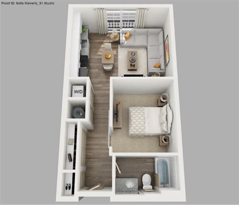 Floor Plan For Bedroom by Solis Apartments Floorplans Waverly