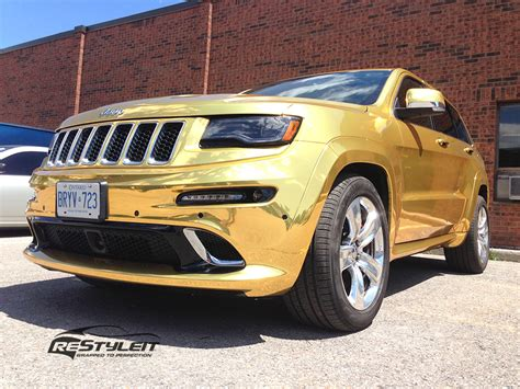 gold jeep gold chrome jeep grand cherokee srt8 vehicle