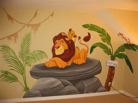 lion king bedroom theme jungle themed murals mural magic