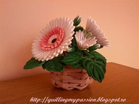 quilling gerbera tutorial 176 best images about quilling canasta de flores on