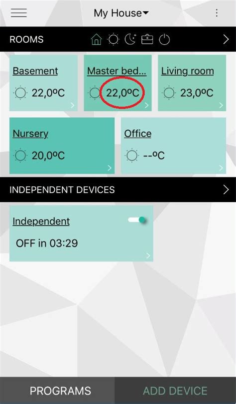 iphone app to check room temperature can i see the rooms temperature in the millheat app mill international bv