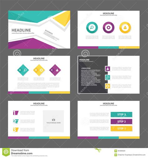 purple yellow presentation template annual report brochure