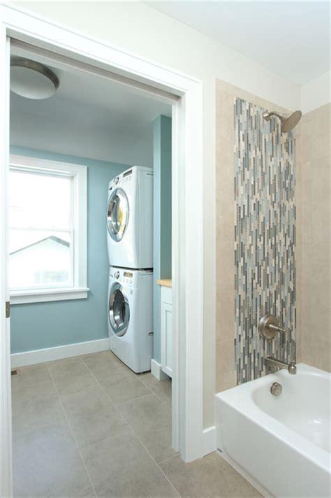 hall bath  laundry traditional laundry room