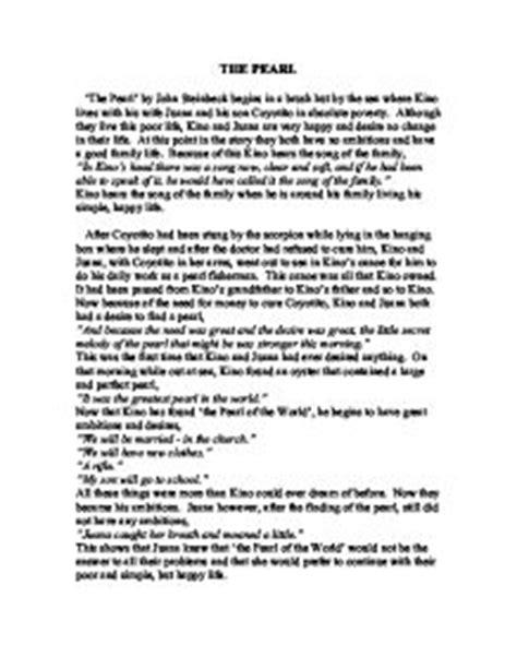 Steinbeck Essays by Steinbeck Pearl Essay