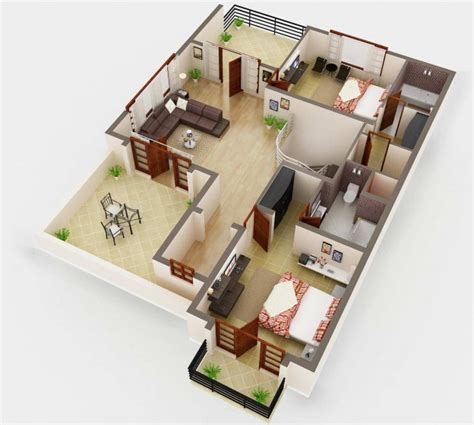 Home Design Planner 3d 3d Floor Plan Rendering House Plan Service Company Netgains