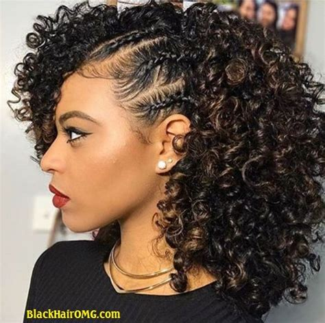 oplaiting natural hair hairstyle for black heavy set that is short hairstyles