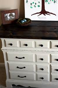 the semi frugal diy dresser with rustic wooden top