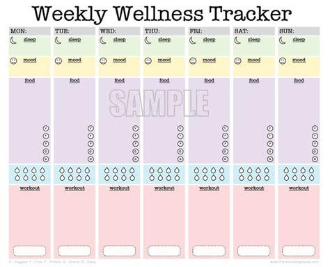 free printable mood journal weekly wellness tracker editable workout planner