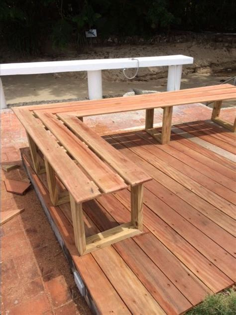 deck bench seating ideas 25 best ideas about deck benches on pinterest deck bench seating deck seating and