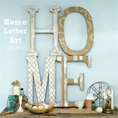 Paper At Home - home tutorial large diy letter decor