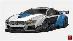 Bmw I8 Concept Drawing Bmw I8 Gt3 Concept By Golferpat On Deviantart