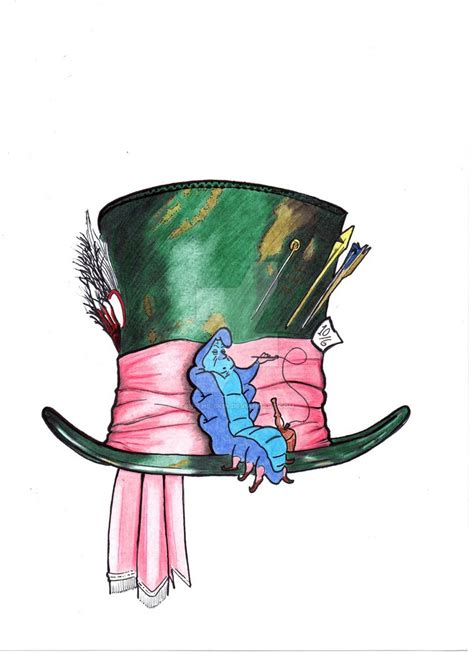 mad hatter and caterpillar tattoo by in the skin on deviantart