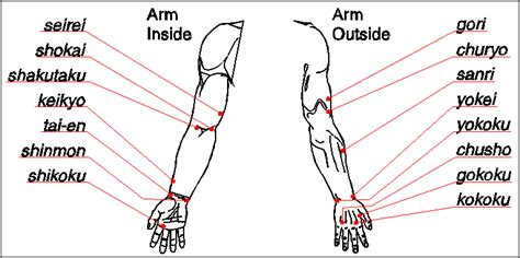 pressure points pin vital pressure points on
