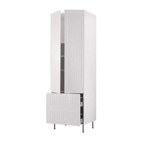 8 inch wide storage cabinet akurum high cabinet w shelves 2 drawers white 196 del