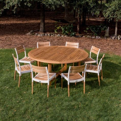 Round Teak Patio Dining Set Westminster Teak Outdoor Teak Patio Furniture Sets