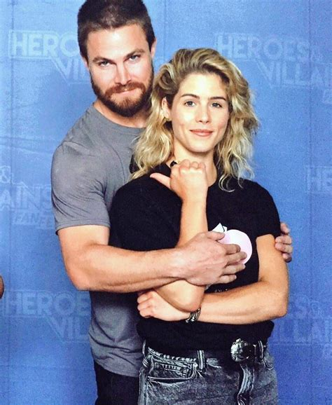 fan 2017 con heroes villains fan 2017 stephen amell e emily bett