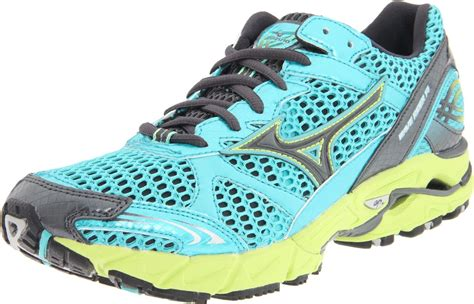 running shoe mizuno mizuno mizuno womens wave rider 14 running shoe in blue