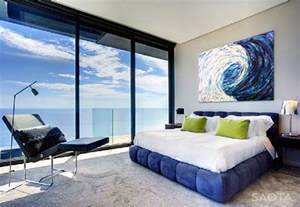 Nettleton 195 house modern bedroom design and interior with beach view