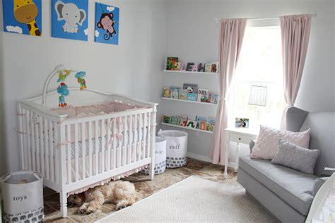 Grey Pink And White Elephant Theme Nursery Project Nursery