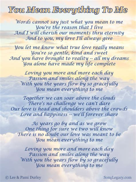 will u be my meaning you everything quotes quotesgram