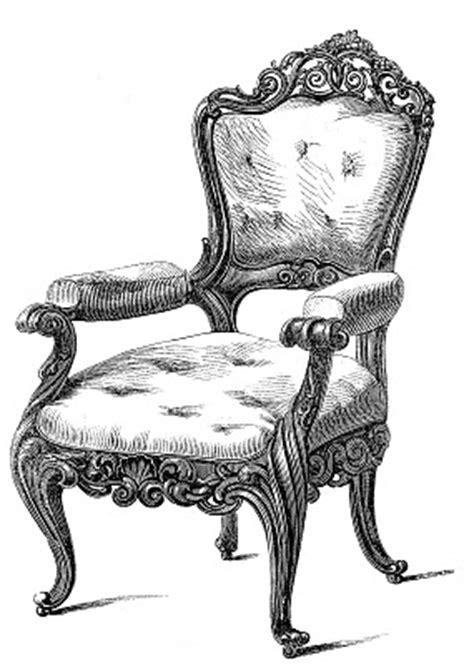 vintage clip art  fancy chairs  graphics fairy