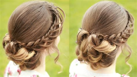 Diy Braided Hairstyles by Diy Braided Updo With Curls Updo Hairstyles
