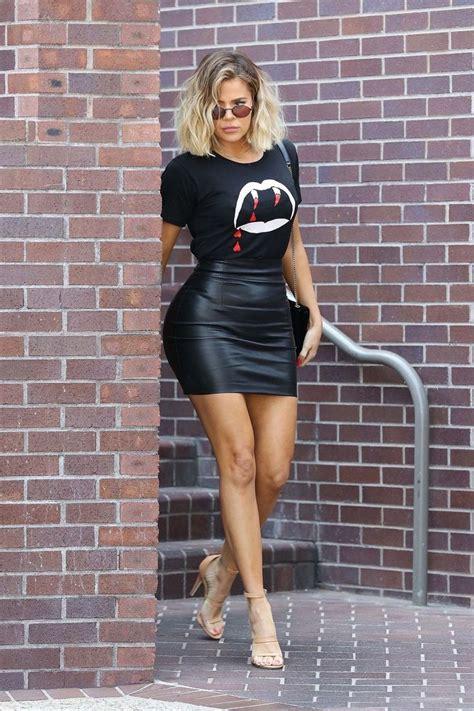 maluma vegan leather skirt khloe kardashian style