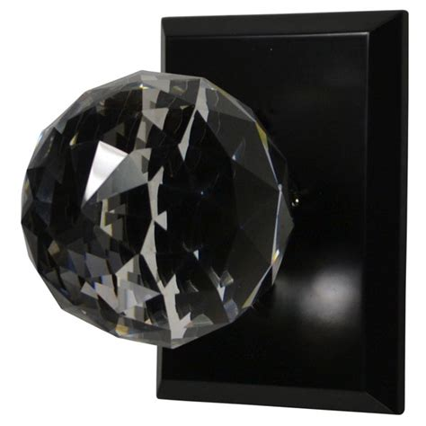 cut glass door knob rubbed bronze finish