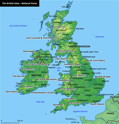 map uk national parks national parks areas of outstanding