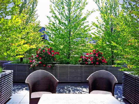 Planters Nyc by Park Ave Terrace Design Roof Garden Bluestone Paver