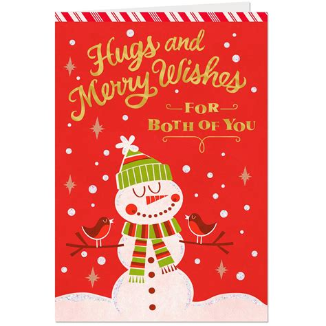 merry wishes christmas card   greeting cards hallmark