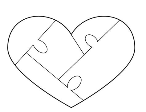 printable heart puzzle template heart puzzle template free to use templates