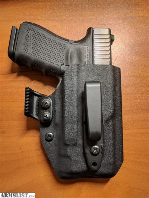glock 19 iwb holster with light armslist for sale inforce aplc glock 19 23 iwb holster