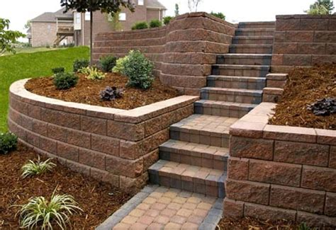 Front To Back Split House by Landscape Walls Dayton Amp Cincinnati Schneider S Lawn