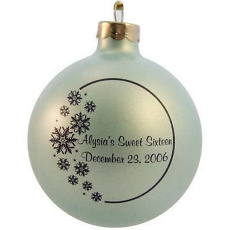 sweet 16 christmas ornament favor