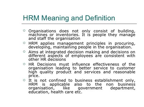 Definition Of Mba In Hr by Human Resource Management