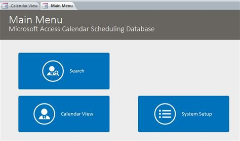 microsoft access calendar template microsoft access calendar scheduling database template