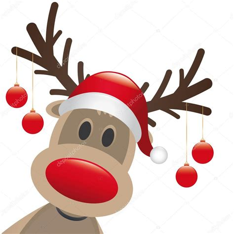 rentier rot nase weihnachtskugel stockfoto 169 dariusl